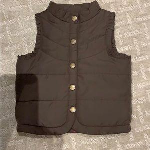 Girl's brown Vest Size 24 months